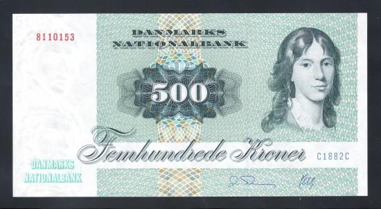 外鈔Danmark 1972 $500 A