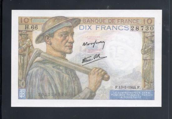 外鈔FRANCS 1944 $10A